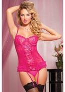 Paisley Pleasure 2pc Bustier-pink-m